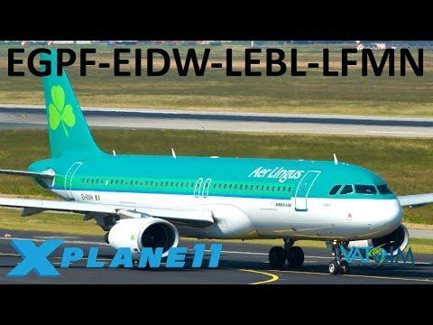 X-Plane 11 | a350 into Barcelona!! | E.U. Hops! | a320U a350 b737 | VATSIM | 10K SUB HYPE!!!