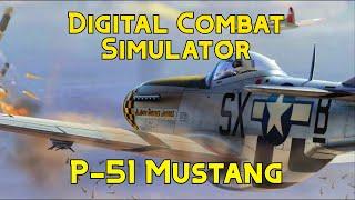 DCS P-51 Mustang Combat Weapons Gameplay