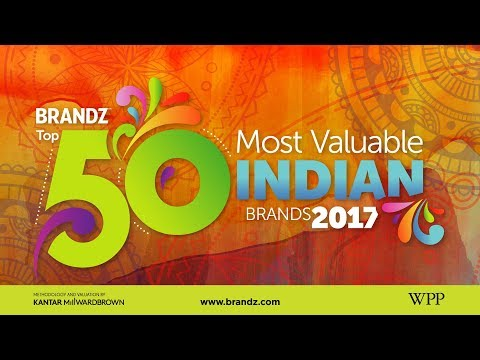 BrandZ Top 50 Most Valuable Indian Brands 2017 | Countdown