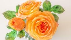 Tutorial: Wafer Paper Rose mit Blattgrün