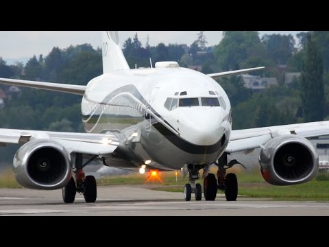 Boeing 737 BBJ * Special Livery * Take-Off at Bern Airport