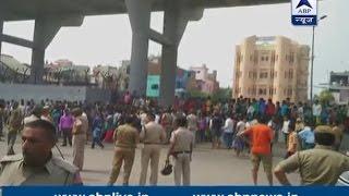 Adarsh Nagar metro station shut down after raging protest