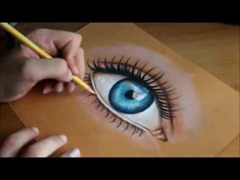 Come Colorare Un Disegno.How To Draw An Eye Come Disegnare Un Occhio Realistico Youtube