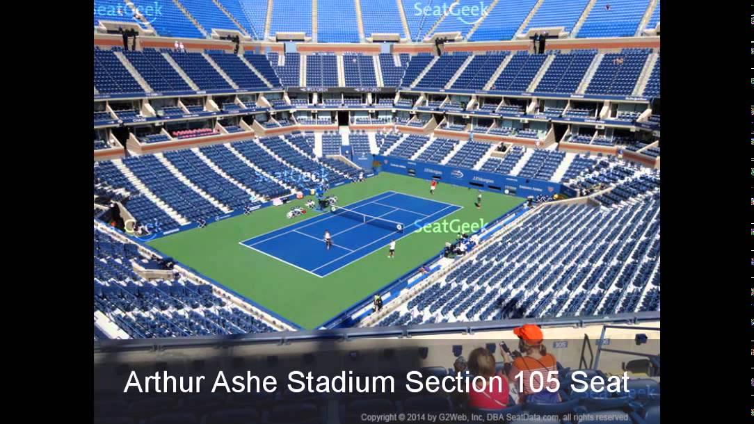 arthur ashe stadium seating chart - YouTube
