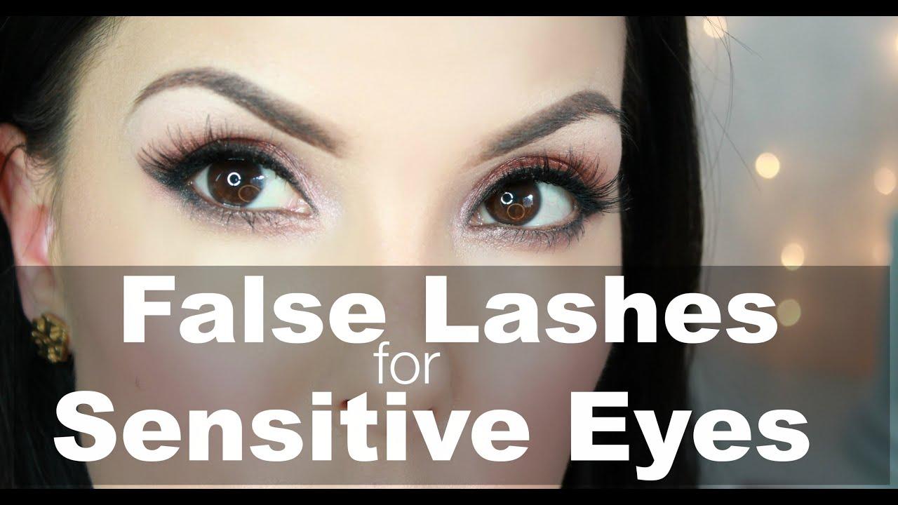 How To Apply False Lashes For Sensitive Eyes Youtube