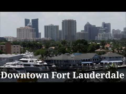[4K] Downtown Fort Lauderdale Aerial View