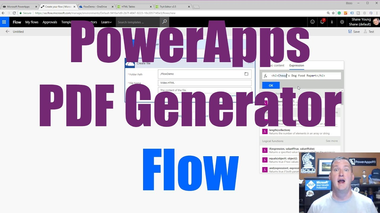 PowerApps PDF Generator using Microsoft Flow PDF Converter