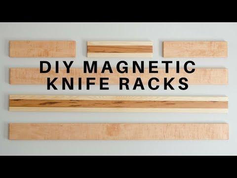 DIY Wall-Hanging Magnetic Knife Racks