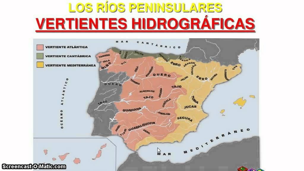 Vertientes Mapa Hidrografico De España.Tutorial Sobre Los Rios De Espana