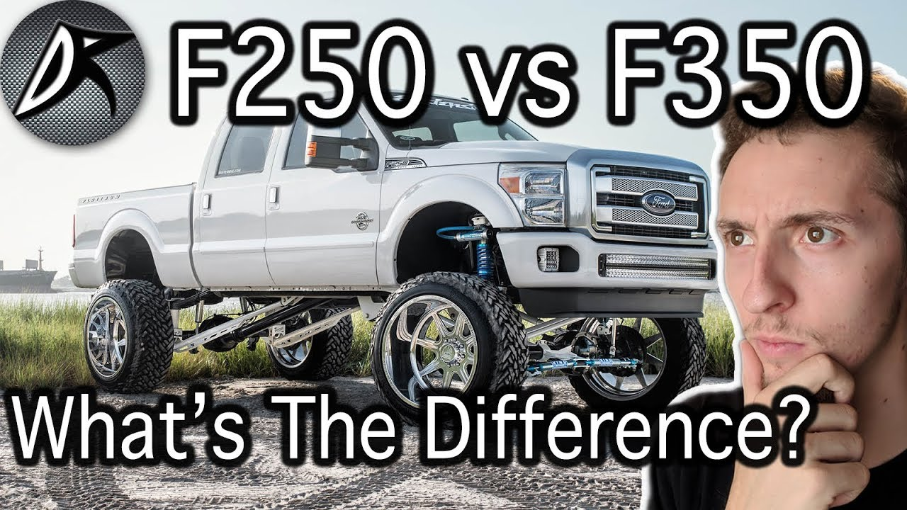 difference between f250 and f350 ford truck