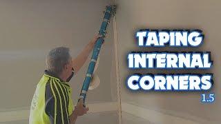 Using the Bazooka to Tape Drywall Internal Corners