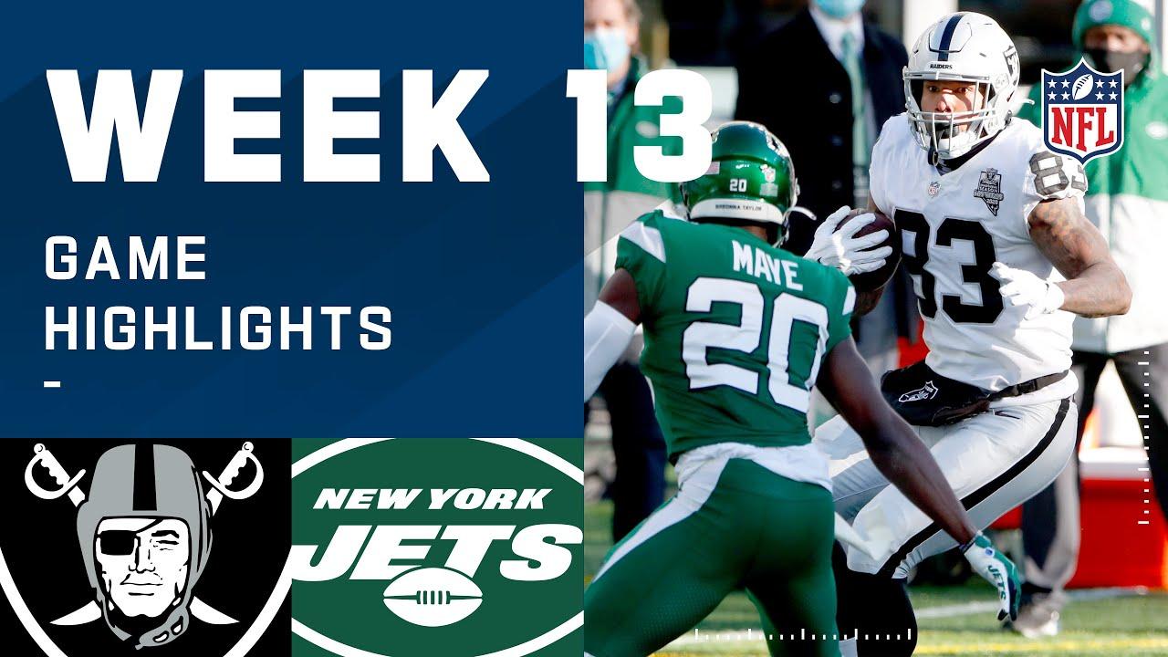 Raiders vs. Jets Week 13 Highlights | NFL 2020 – NFL