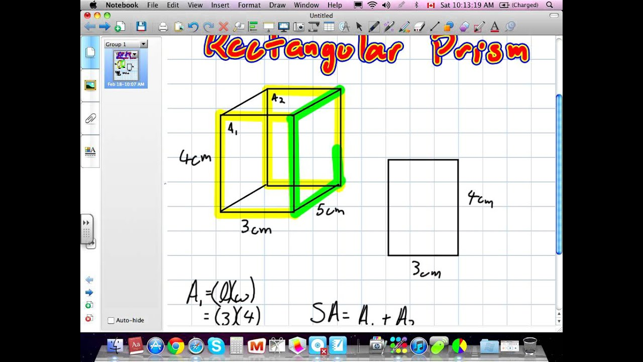 Surface Area And Volume Of A Rectangular Prism Grade 7 Nelson Chapter 11 021812