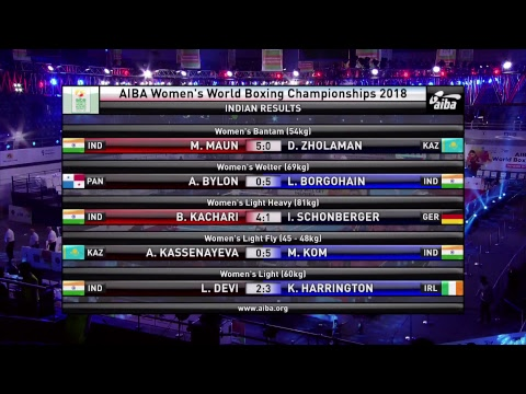 AIBA Women's World Boxing Championships New Delhi 2018 - Session 8 A