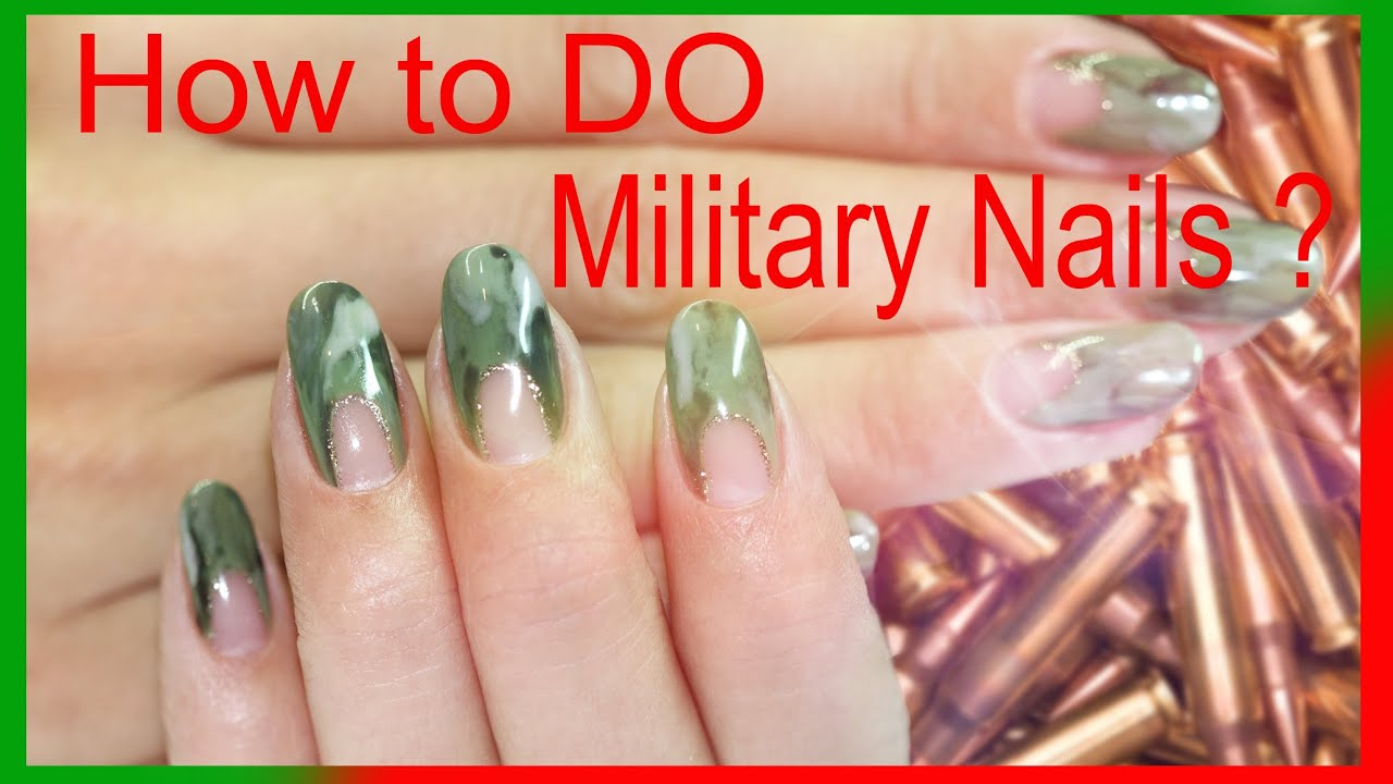 How to Do Military Nails? Military nail art tutorial. Step ...