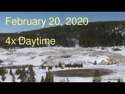 February 20, 2020 Upper Geyser Basin Daytime 4x Streaming Camera Captures