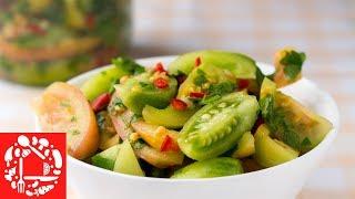 Каждый год готовлю такой салат Настоящее объедение из зеленых помидоров