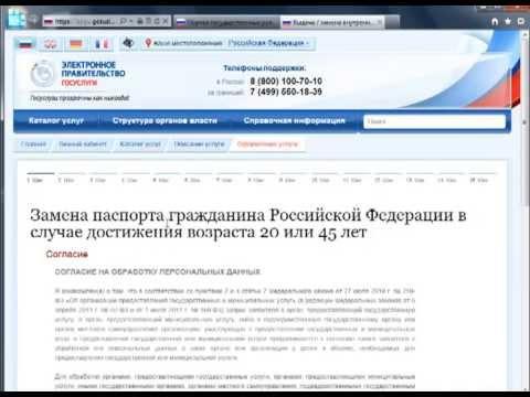 Государственная услуга по выдаче и замене российского паспорта