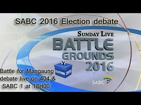 SABC Election Debate, The Battle for Mangaung: 26 June 2016