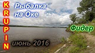Рыбалка на Оке. Фидер. Июнь 2016 г.(, 2016-08-09T00:41:22.000Z)