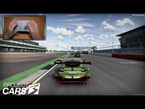 Project CARS 3 - Controller Gameplay [2019 Aston Martin Vantage GTE at Silverstone]