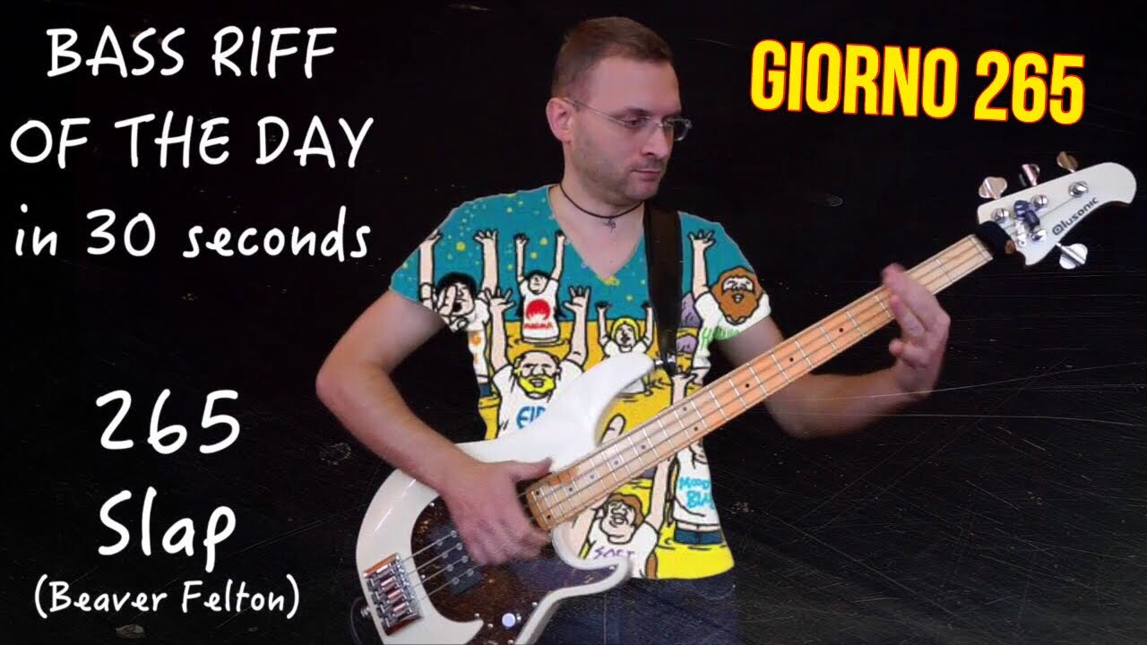 Slap Beaver Felton Bass Riff Of The Day In 30sec D#265