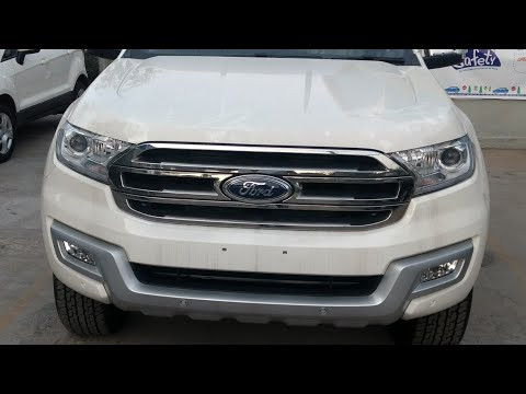 Ford All New Endeavour 3.2L 4WD AT Titanium Diamond White Colour Interior and Exterior Walkaround !!