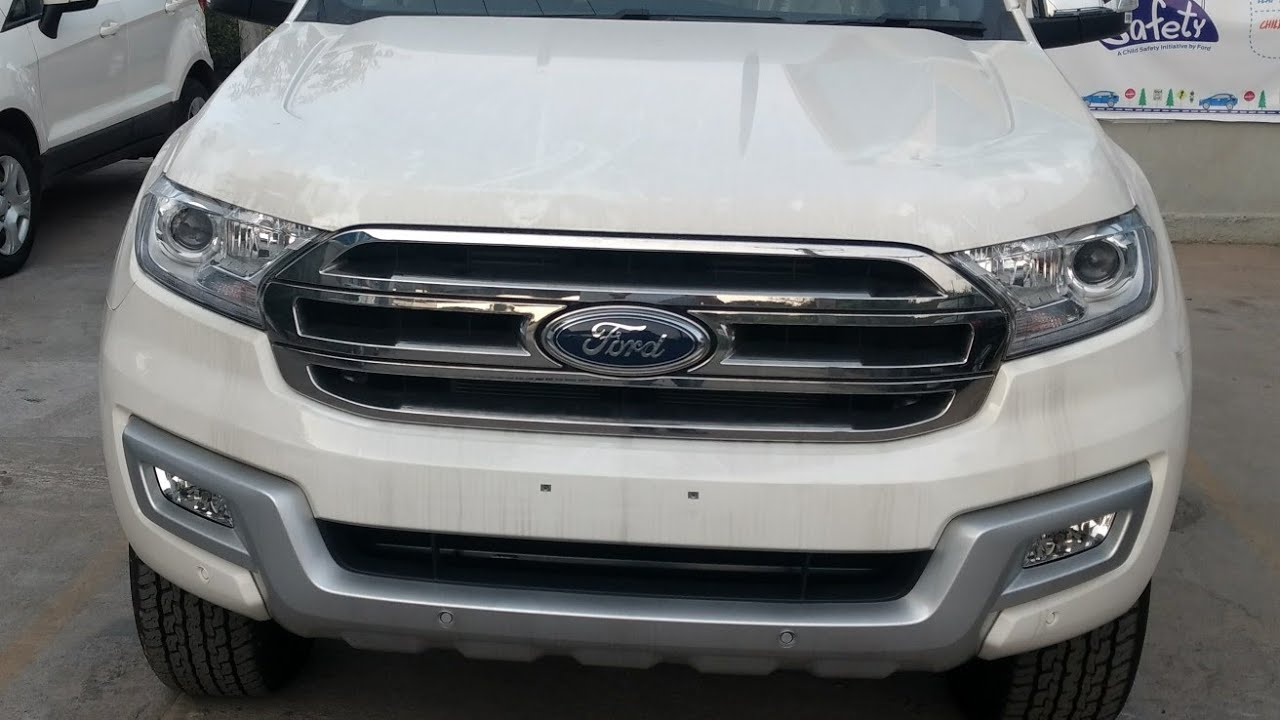 Ford All New Endeavour 3 2l 4wd At Anium Diamond White Colour Interior And Exterior Walkaround