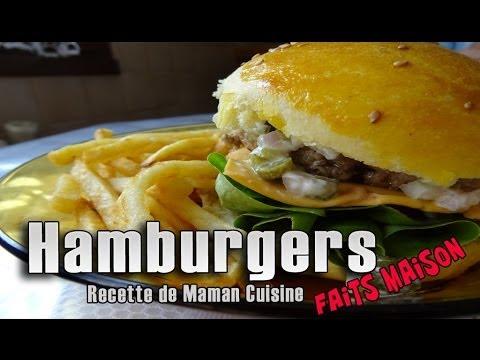 hamburgers maison et à la semoule ! | maman cuisine - youtube