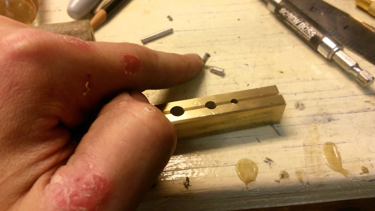Shop Tip! Holding pins for peening!