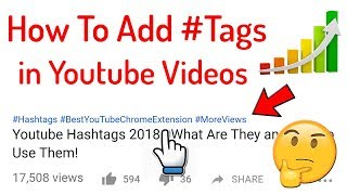 How To Add Hashtags in Youtube videos | Complete Guide in Hindi