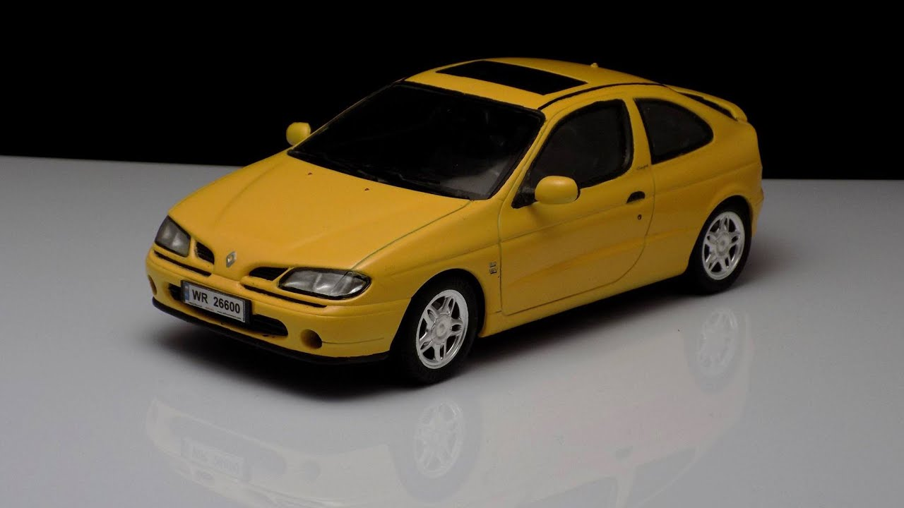 renault megane coupe 1 24 fujimi 1996 youtube. Black Bedroom Furniture Sets. Home Design Ideas
