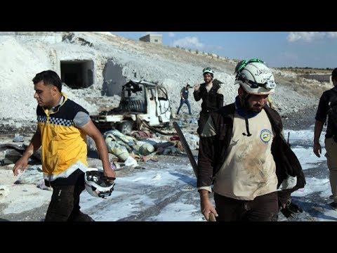 Russian airstrikes in Syria's rebel-held Idlib