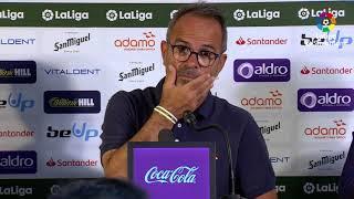 Rueda de prensa de  Álvaro Cervera tras el Real Racing Club vs Cádiz CF (1-2)
