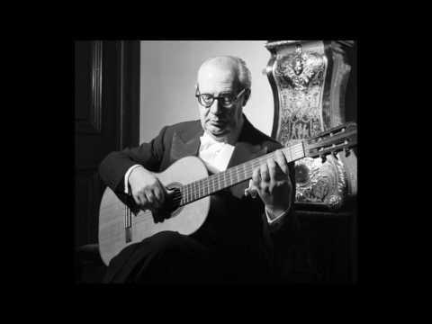 Andrés Segovia (guitar) plays Baroque pieces. アンドレス・セゴビア(ギター)バロック小品集