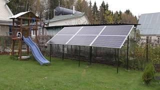 солнечная электростанция в загородном доме, первый месяц использования