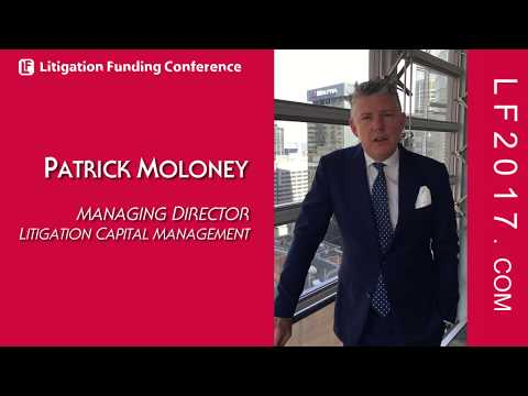 Patrick Moloney, MD of Litigation Capital Management on Lawsuit Financing @ LF2017 London