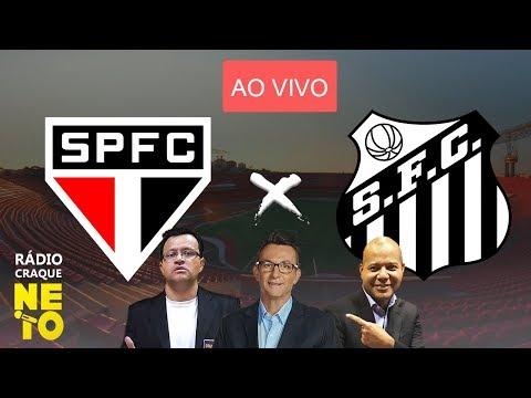 São Paulo x Santos | AO VIVO | Rádio Craque Neto - Libertadores 2020