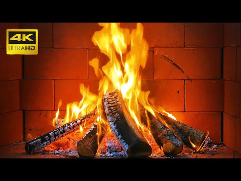 ? Fireplace 4K 10 HOURS with Crackling Fire Sounds ? The Best Cozy Fireplace for Sleeping (NO MUSIC)