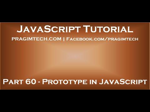 Prototype in JavaScript