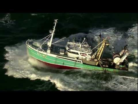 Aerials Of A Fishing Boat On The Dutch North Sea..