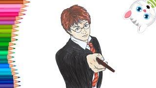 Harry Potter Come Disegnare E Colorare Piccole Mani Libro Da Colorare Youtube