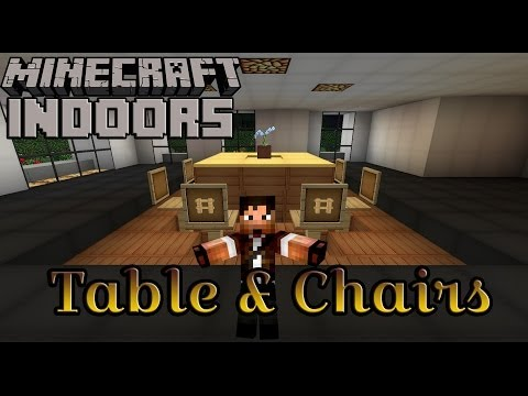 how to build a table and chairs minecraft indoors kitchen table chairs tutorial duration 347 zueljin gaming 17217 views aesthetic lighting minecraft indoors torches