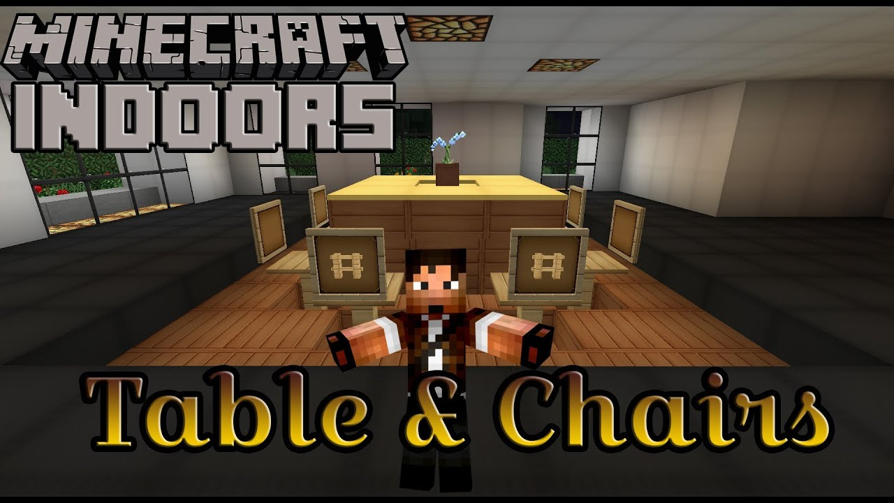 Minecraft Kitchen Furniture How To Build A Table And Chairs Minecraft Indoors Kitchen Table