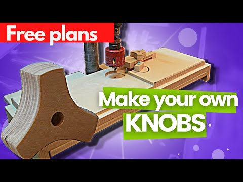 Star knob jig for drill press | How to make wooden star knobs | Building my workshop - Episode 2