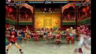 KOF 2002 UM Psycho Soldier Team death combo movie