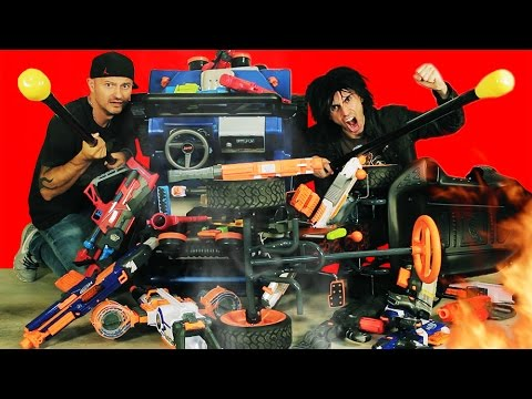Thumbnail: NERF BATTLE RACER vs BOOMCO BLASTER BUGGY 3! Nerf War!