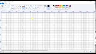 How To Draw A Dot In MS Paint