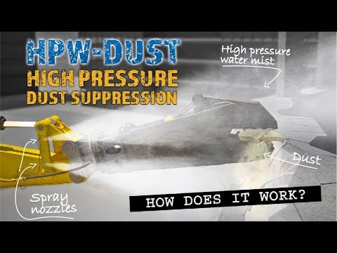 How Does A High Pressure Dust Suppression System Work?