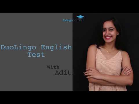 DuoLingo  English Test- International English Exam [ForeignAdmits]